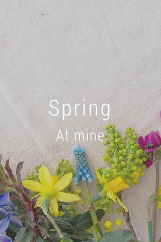 Spring At mine