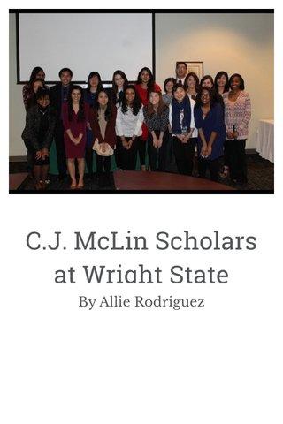 C.J. McLin Scholars at Wright State University