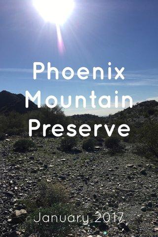 Phoenix Mountain Preserve January 2017