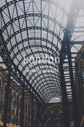 London summer of 2016