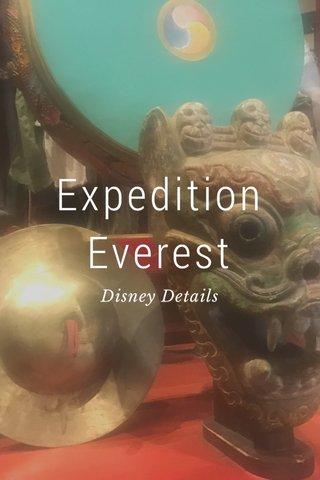 Expedition Everest Disney Details