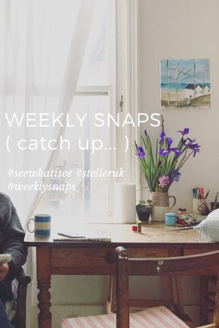 WEEKLY SNAPS ( catch up... ) #seewhatisee #stelleruk #weeklysnaps