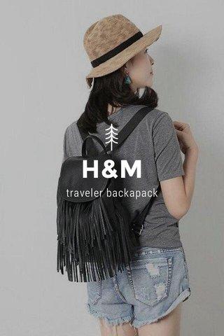 H&M traveler backapack