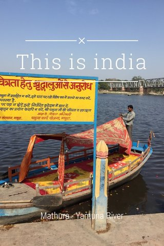 This is india Mathura - Yamuna River