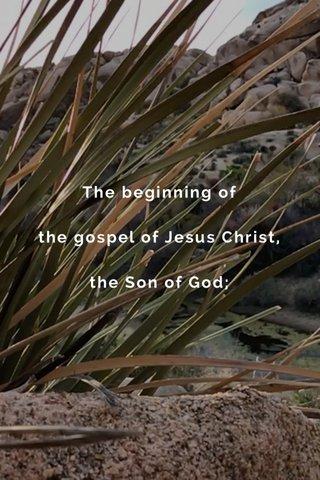 The beginning of the gospel of Jesus Christ, the Son of God;