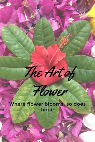 The Art of Flower Where flower blooms, so does hope