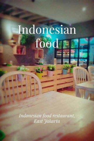 Indonesian food Indonesian food restaurant, East Jakarta
