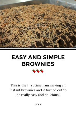 EASY AND SIMPLE BROWNIES