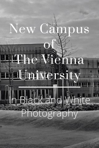 New Campus of The Vienna University In Black and White Photography