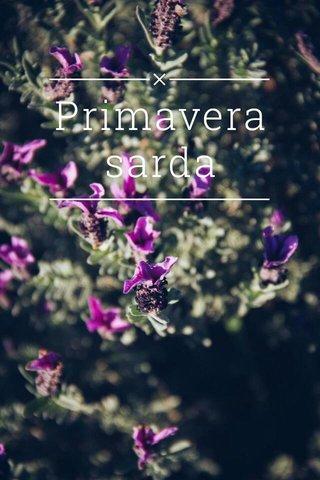 Primavera sarda