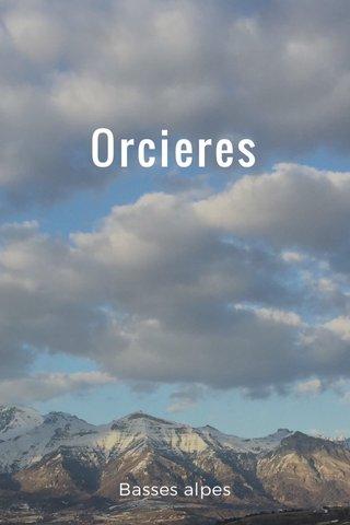 Orcieres Basses alpes