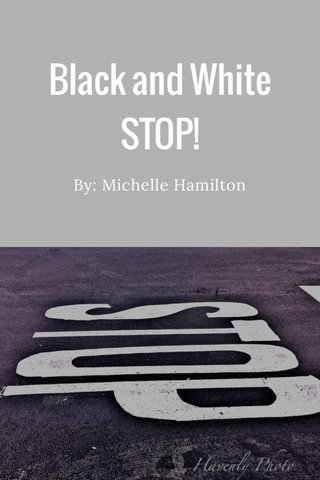 Black and White STOP! By: Michelle Hamilton