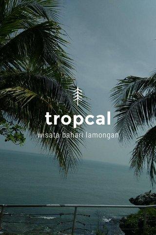 tropcal wisata bahari lamongan