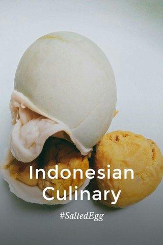 Indonesian Culinary #SaltedEgg