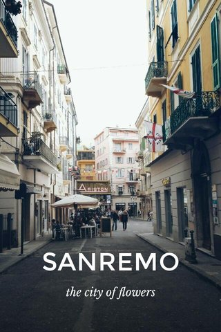 SANREMO the city of flowers
