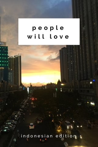people will love indonesian edition