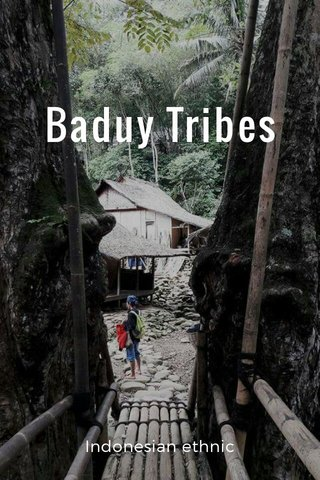 Baduy Tribes Indonesian ethnic