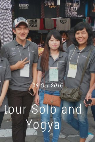 tour Solo and Yogya 28 Oct 2016