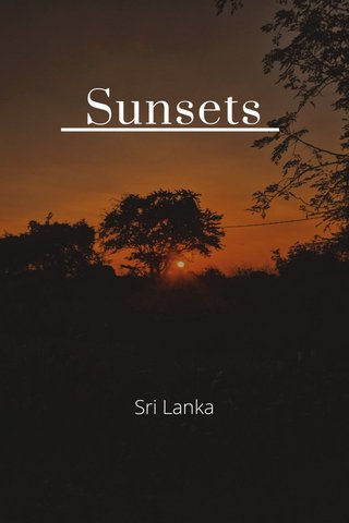 Sunsets Sri Lanka