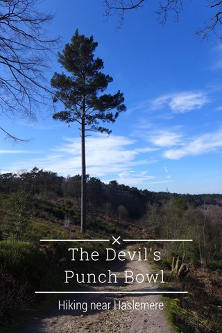 The Devil's Punch Bowl Hiking near Haslemere
