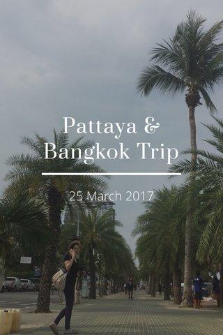 Pattaya & Bangkok Trip 25 March 2017