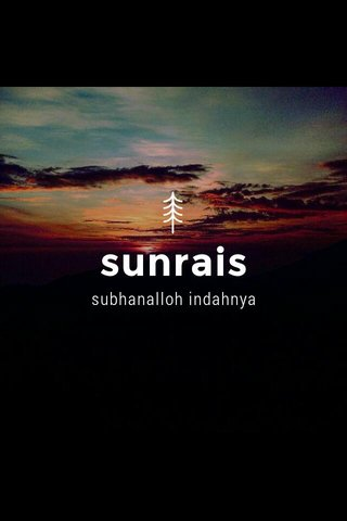 sunrais subhanalloh indahnya