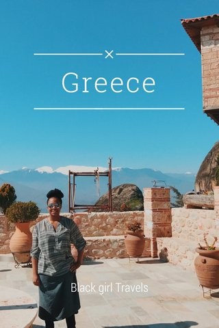Greece Black girl Travels