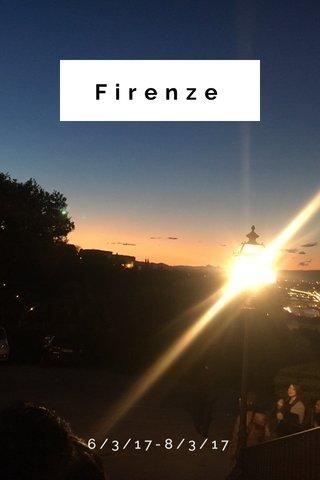 Firenze 6/3/17-8/3/17