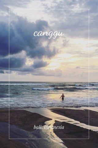 canggu bali, indonesia