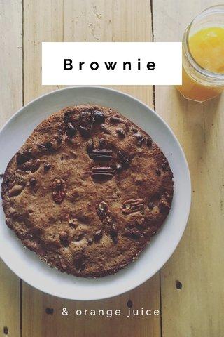 Brownie & orange juice
