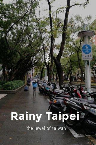 Rainy Taipei the jewel of taiwan