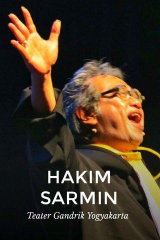 HAKIM SARMIN Teater Gandrik Yogyakarta