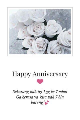 Happy Anniversary ❤️
