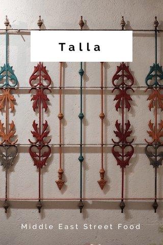 Talla Middle East Street Food
