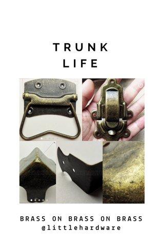 TRUNK LIFE BRASS ON BRASS ON BRASS @littlehardware