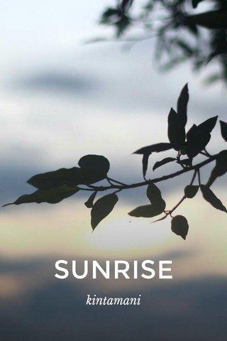SUNRISE kintamani