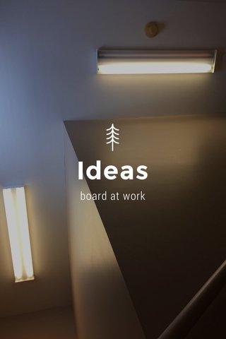 Ideas board at work