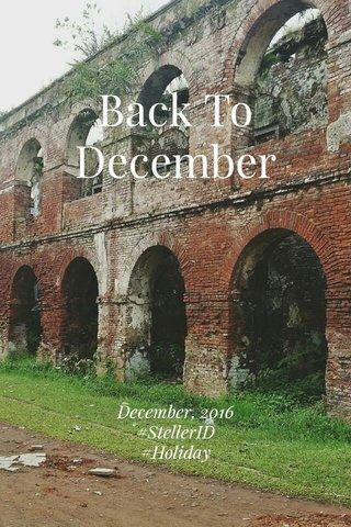 Back To December December, 2016 #StellerID #Holiday