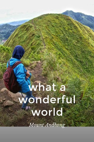 what a wonderful world Mount Andhong