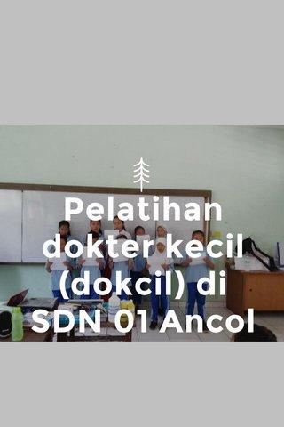 Pelatihan dokter kecil (dokcil) di SDN 01 Ancol