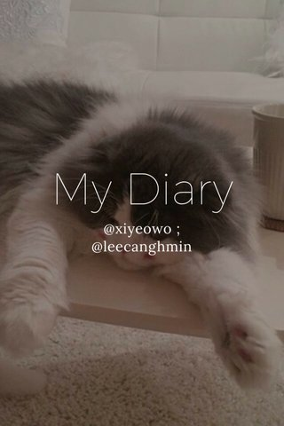 My Diary @xiyeowo ; @leecanghmin