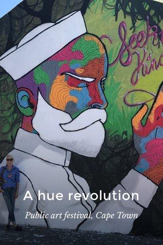A hue revolution Public art festival, Cape Town