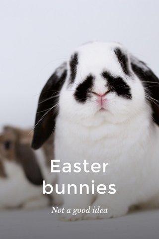 Easter bunnies Not a good idea
