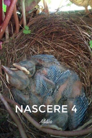 NASCERE 4 Addio
