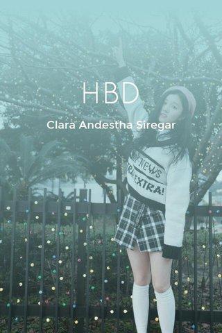 HBD Clara Andestha Siregar
