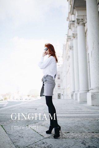 GINGHAM |mini skirt|