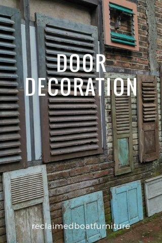 DOOR DECORATION reclaimedboatfurniture