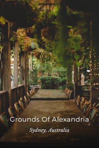 Grounds Of Alexandria Sydney, Australia