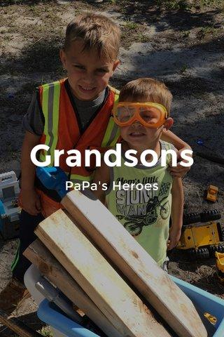 Grandsons PaPa's Heroes