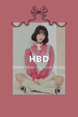 HBD Naftha Vania Stephanie Siregar